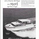 1961 Roamer Steel Boats Ad- Nice Photo of 35' Regal
