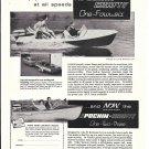1960 Pochin Craft Boats Ad- Nice Photos of 2 Models