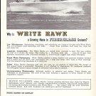 1962 White Hawk Boat Ad- Nice Photo