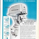 1962 Perkins 40 HP. Outboard Motor Ad- Nice Photo