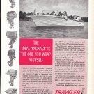 1962 Traveler Skijack Boat Ad- Nice Photo