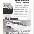 1955 Nordberg Marine Engines Ad- Nice Photo Emancipator Express Yacht