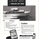 1955 Z Spar Ad- Nice Photo of Mercury Boat