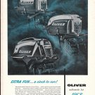 1958 Oliver Outboard Motors Ad- Nice Photo 35- 16- 6 HP.