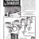 1950 Evinrude Outboard Motors Ad- Nice Photo of 4 Models