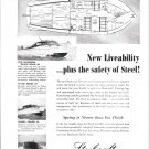 1950 Steelcraft Boats Ad- Photos of 3 Models