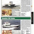 2006 Bluewater 5200 & Hampton 560 New Yachts Reviews & Specs- Nice Photos