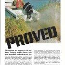 1967 Kiekhaefer Mercury Outboard Motors Color Ad- Nice Photo Lake X Test