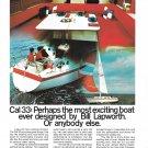1972 Jensen Marine Cal 33 Sailboat Color Ad- Nice Photo