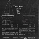 1972 Michel Dufour USA Yachts Ad- Models 27 & 35- Specs