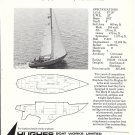 1972 Hughes 38 MK II Yacht Ad- Nice Photo- Specs