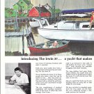 1972 Irwin 37 Yacht 2 Page Color Ad- Great Drawing