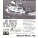1970 American Marine LTD Ad- Nice Photo of Grand Banks 36 Diesel Cruiser