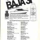 1975 Baja 31 Sedan Fisherman Yacht Ad- Specs