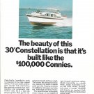 1967 Chris- Craft 30' Constellation Yacht Color Ad- Nice Photo