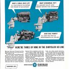 1967 Chrysler Marine Engines Ad- Photos of 3 Models