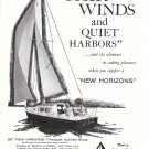 1960 Ray Greene 26' New Horizons Sloop Ad- Nice Photo