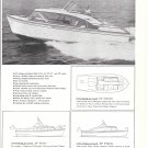 1960 Cruis Along Boats 2 Page Ad- 5 Models- Nice Photo