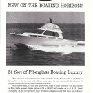 1961 Hatteras 34 Yacht Ad- Nice Photo