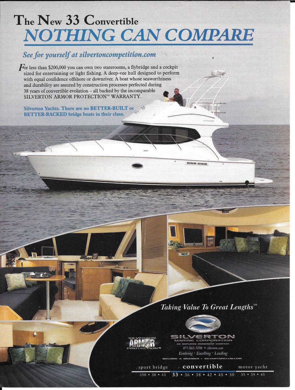 2006 Silverton 33 Convertible Yacht Color Ad- Nice Photos