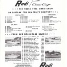 1966 Rodi Chris- Craft Boats Ad- Photos of 4 Models