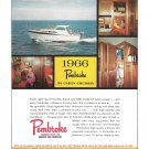 1966 Pembroke 32 Cabin Cruiser Yacht Color Ad- Nice Photos