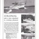 1966 Colonial Cruisers Inc Ad- Nice Photos of 54' & 43' Models