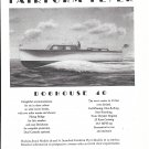 1945 Huckins Yacht Corp Ad- Nice Drawing Doghouse 40