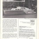 "1966 Huckins Yacht Corp Ad- Nice Photo 1946 50' ""Serenade II"""