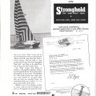 1953 Stronghold Nails Ad- Nice Photo Creger 32' Catamaran