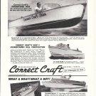 1958 Correct Craft Boats Ad- Nice Photos of 4 Models