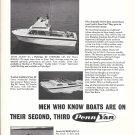 1968 Penn Yan Boats Ad- Photos of 23'- 22' & 14' Models