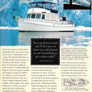 Old Grand Banks GB49 Classic Diesel Cruiser Color Ad- Nice Photo