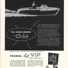 1957 Fageol Aqua- Queen Boat Ad- Nice Photo- Hot Girl