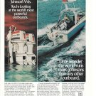 1977 Johnson V-6 Outboard Motors Color Ad- Nice Photo of 200 & 175 HP.