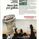 1977 Evinrude 55 HP. Outboard Motor Color Ad- Nice Photo