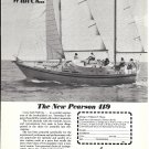 1974 Pearson 419 Yacht Ad- Great Photo