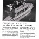 1968 Huckins Out Island 58 FairformFlyer Yacht Ad- Nice Photo