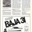 1974 Southampton Marine Corp Ad- Baja 31 Boat