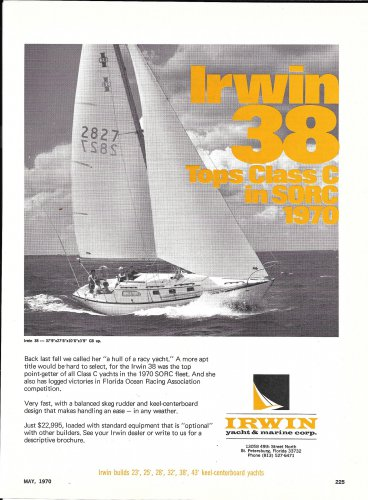 1970 Irwin 38 Yacht Ad- Nice Photo