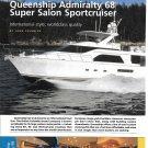 2001 Queenship Admiralty 68 Sportcruiser Yacht Review & Specs- Nice Photos