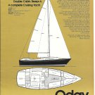 1975 O'Day 32 Yacht Ad- Specs- Drawing