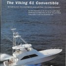 2001 Viking 61 Convertible Yacht Color Ad- Nice Photo