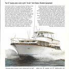1968 Owens Aruba 42' Motor Yacht Color Ad- Nice Photo