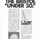 1970 Bristol Yachts Ad- Photo of Bristol 30