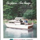 1966 Trojan Boat Company Color Ad- Nice Photo Sea Breeze 26 Express