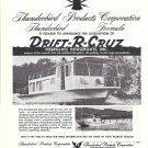 1966 Thunderbird Boats Ad- Nice Photo Drift-R-Cruz Houseboats