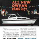 1967 Owens Yacht Company Color Ad- Nice Photo 30' Empress Convertible Express
