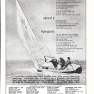 1966 Westerly Marine Construction LTD Ad- Nice Photo Westerly Yacht