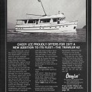 1976 Cheoy Lee Shipyard Ad- Nice Photo 1977 Trawler 62